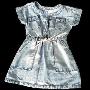 Carter's Chambray Denim Shortaleeve Dress 2T